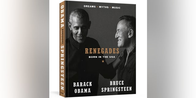 """The cover of """"Renegades: Born in the USA"""" by former President Barack Obama and musician Bruce Springsteen. (Associated Press)"""