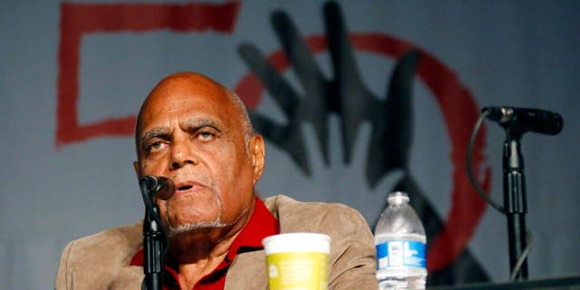 """In this June 26, 2014 file photo, Robert """"Bob"""" Moses, Student Nonviolent Coordinating Committee (SNCC) project director in 1964, discusses the importance of Freedom Summer 1964 during the 50th Anniversary conference at Tougaloo College in Jackson, Miss."""
