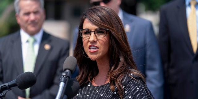 U.S. Rep. Lauren Boebert, R-Colo., speaks in Washington, July 29, 2021. (Associated Press)
