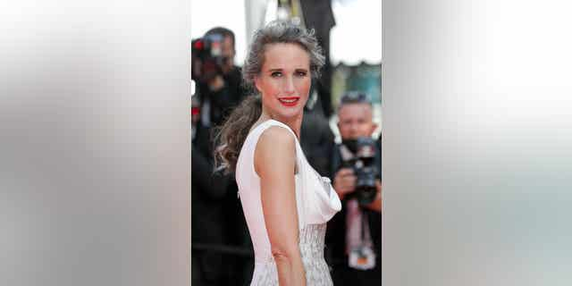 Andie MacDowell attends the 'Tout S'est Bien Passe (Everything Went Fine)' screening during the 74th annual Cannes Film Festival on July 7.