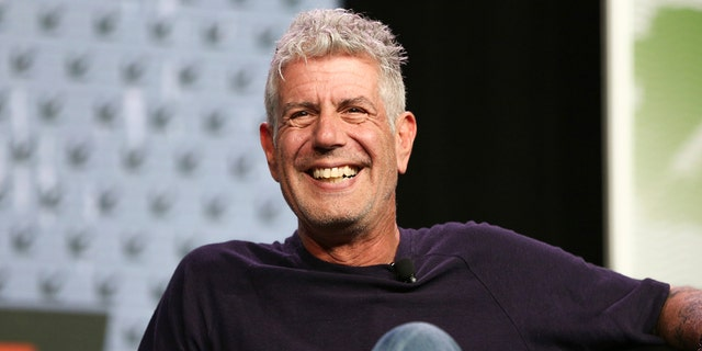 Anthony Bourdain speaks at an event in Austin, Texas, March 13, 2016. (Associated Press)