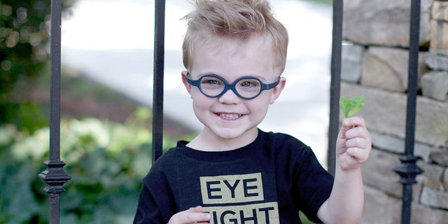 Asher Rock, who is 7-years-old today, is a survivor of Grade D Retinoblastoma after being diagnosed when he was just 3-months old. His mother, Josie Rock, discovered a tumor in his right eye after it had a white glow in a photo.