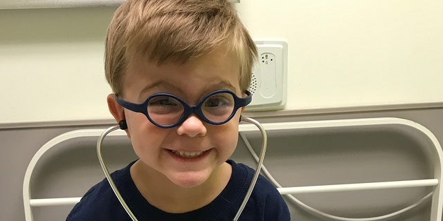 Asher, pictured here, underwent treatment at the Aflac Cancer & Blood Disorders Center clinic of Children's Healthcare of Atlanta.