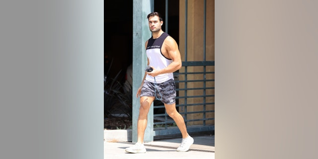 Britney Spears' super supportive boyfriend Sam Asghari leaves the gym in L.A after commenting on the pop stars conservatorship.