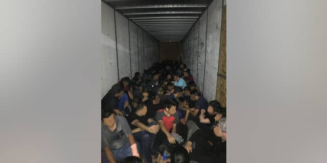 A suspected smuggling operation discovered in Texas near the Mexico border.