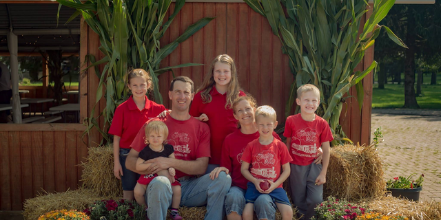 The Tennes family at their farm, Country Mill Farms, outside of Charlotte, Michigan. (ADF)
