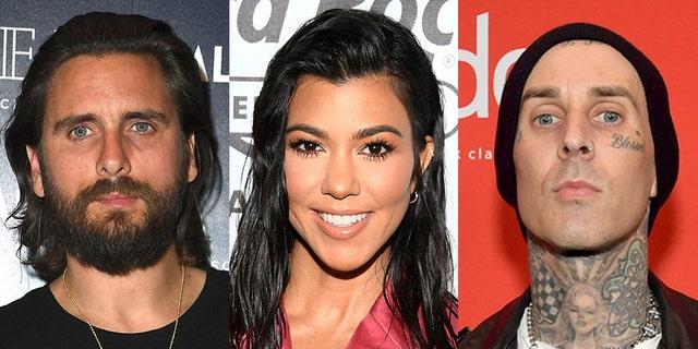 Scott Disick, à gauche, a été ombragé par l'ancien petit ami de l'ex Kourtney Kardashian, Younes Bendjima, après qu'il ait semblé critiquer son PDA en Italie avec le rockeur de Blink-182 Travis Barker, à droite.