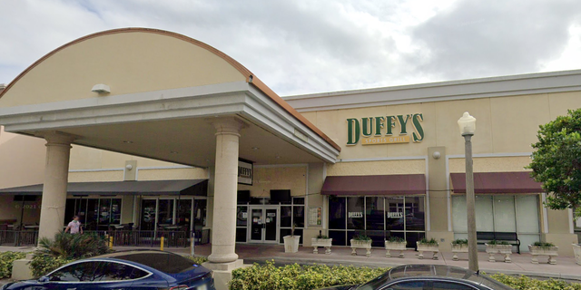 The Duffy's Sports Grill location in Miami is located in the Kendall Village Center at 8575 SW 124th Avenue. A woman was recently spotted styling her hair in the sports grill, according to a viral video shared by Only in Dade. (Google Maps)
