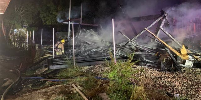 Homes damaged by fireworks.