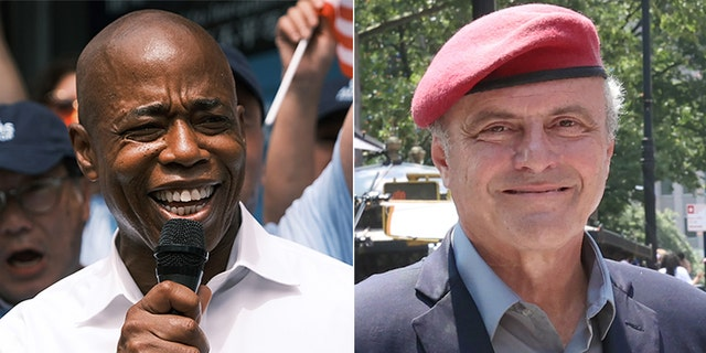 Democratic candidate Eric Adams will take on Republican mayoral hopeful CurtisSliwa for mayor of New York City.