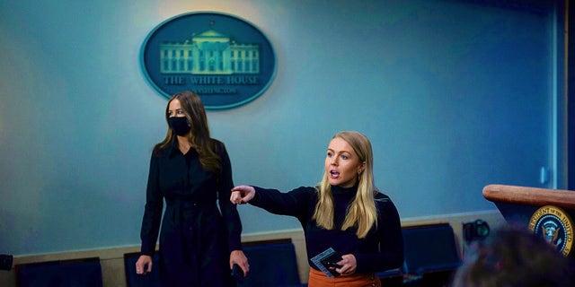 Karoline Leavitt, right, worked as an assistant press secretary in the Trump White House. (Courtesy of Karoline Leavitt)