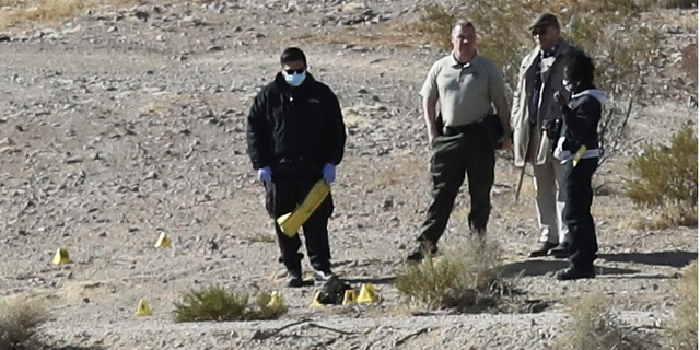 Investigators examine the area where some of Stephanie Ashley Bonillas remains were discovered earlier this year.