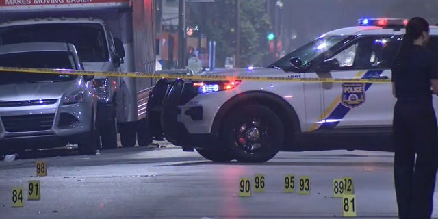 Local television reports indicated that police had to create handwritten evidence markers at the scene due to the number of fragments and casings.