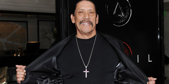 """Actors Danny Trejo arrives on the red carpet for the premiere of the film """"Devil"""" at the London Hotel in West Hollywood on September 15, 2010.         AFP PHOTO/Mark RALSTON (Photo credit should read MARK RALSTON/AFP via Getty Images)"""