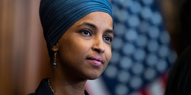 U.S. Rep. Ilhan Omar, D-Minn., is seen at the U.S. Capitol in Washington, June 17, 2021. (Getty Images)