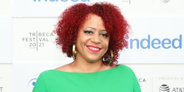"""NEW YORK, NEW YORK - JUNE 19: Nikole Hannah-Jones attends the """"Neutral Ground"""" premiere during the 2021 Tribeca Festival at Pier 76 on June 19, 2021 in New York City. (Photo by Monica Schipper/Getty Images for Tribeca Festival)"""
