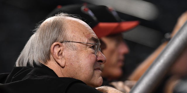 Arizona Diamondbacks managing general partner Ken Kendrick watches warmups before a National League Divisional Series game against the Los Angeles Dodgers at Chase Field in Phoenix, Oct. 9, 2017. (Getty Images)