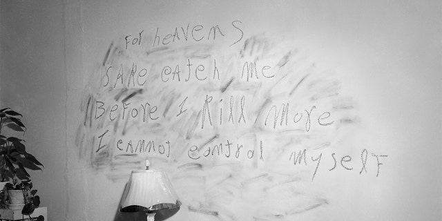 The haunting plea of convicted murderer William Heirens is scrawled with lipstick on a bedroom wall of one his three victims. Heirens was called The Lipstick Killer and at the time of his death in 2012 was the longest serving prisoner in the world.