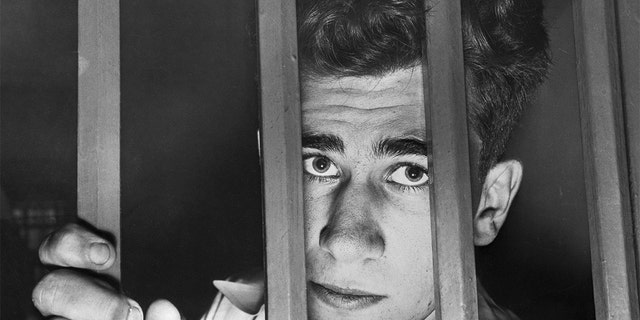 William Heirens, a 17-year-old suspect in the Degnan kidnap slaying, appears calm in his cell at the Cook County Jail. Police announced his fingerprints matched a print found in the hotel room in Chicago, where Frances Brown was murdered December 10, 1945.