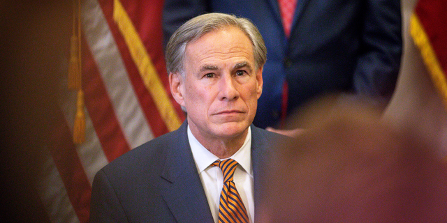 Texas Governor Greg Abbott attends a press conference where he signed Senate Bills 2 and 3 at the Capitol on June 8, 2021 in Austin, Texas. American Conservative Union Chairman Matt Schlapp lauded Abbott in an interview with Fox News for ending his state's COVID restrictions. (Photo by Montinique Monroe/Getty Images)