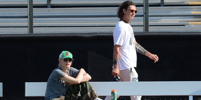 Exes Gwen Stefani and Gavin Rossdale met up in support of their son, Apollo, at his football game. Photographers caught the former pair keeping their distance from one another as they took in the action from the sidelines.