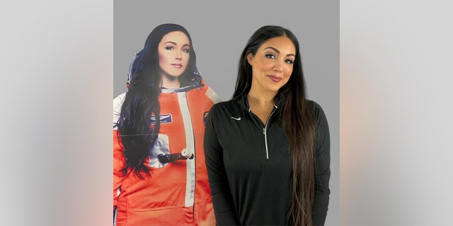 Gerardi says she'll prepare for the journey by carefully choreographing her movements and practicing them for the cabin in a test spacesuit. (Gerardi).  - Headshot 1 - Meet the mom heading to space on Richard Branson's Virgin Galactic spaceship