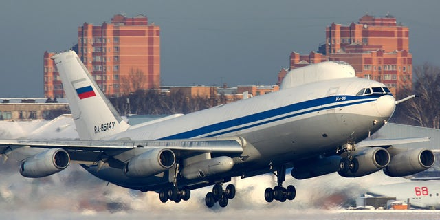 An Ilyushin Il-80, a Russian military aircraft modified from the Ilyushin Il-86 airliner, known as the Doomsday Plane, is seen in the Moscow region in February 2012. Putin has now ordered two upgraded versions of the plane to be constructed.
