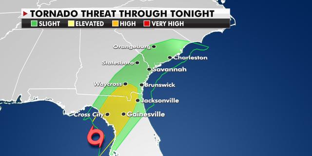 Tornado threat in Florida on Wednesday night