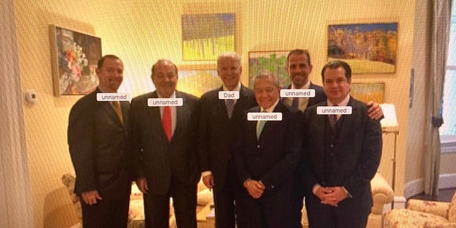 Photo from 2015 appears to show then-Vice President Biden and his son Hunter with Mexican billionaire Carlos Slim (second from left) and other executives.