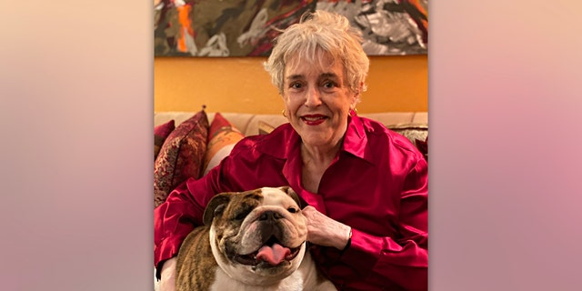 Janet Cawley and her beloved English Bulldog, Lulabelle.
