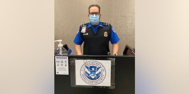 Lead TSA Officer John Killian found the lost diamond near a supervisory podium that's not far from where a checkpoint line meets five hours after it was reported missing.