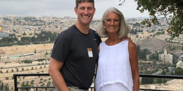 Jonathan Lotz (left), grandson of American evangelist Billy Graham, is currently in the ICU with COVID-19. Here he is seen with his mother, Anne Graham Lotz.