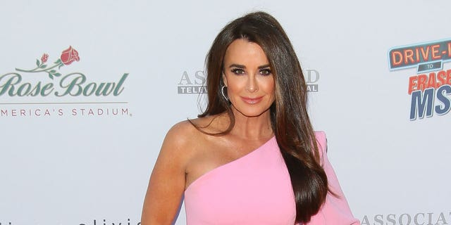 Kyle Richards was hospitalized after walking into a beehive in her yard.