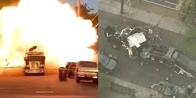 A cache of illegal fireworks seized at a South Los Angeles home on June 30 exploded unexpectedly.