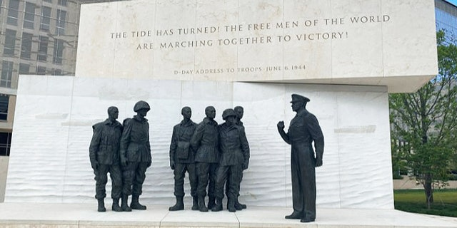 Memorial of Dwight Eisenhower's D-Day address to troops