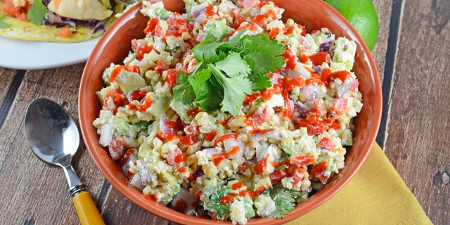 """Savory Experiments' Mexican Street Corn Dip is """"perfect for parties and potlucks,"""" Jessica Formicola from Savory Experiments says."""