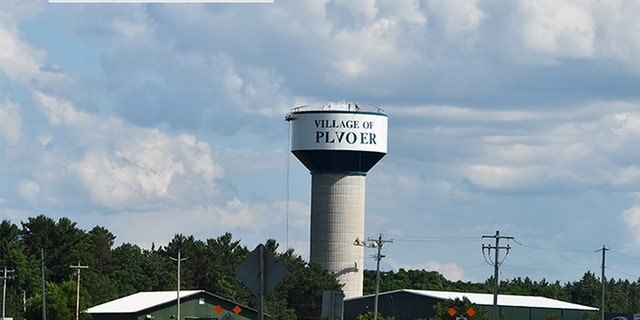 """A new paint job on a water tower in Plover, Wis., spelled it """"Plvoer."""""""