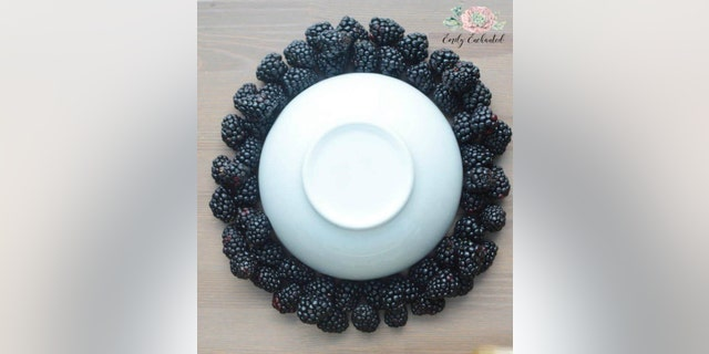 The platter combines a beautiful presentation with the delicious taste of fresh fruit.
