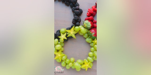 """This """"Olympic Rings Fruit Platter"""" from food blog Emily Enchanted is the perfect snack to enjoy while watching the games in Tokyo."""
