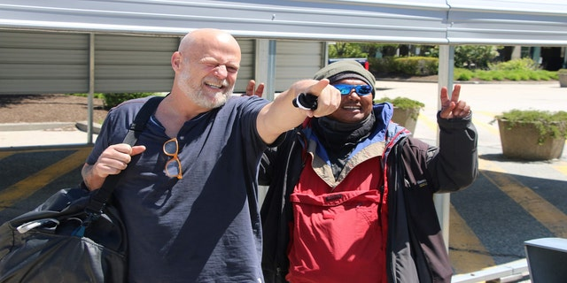 Scott Kuczmarski and Robert Pineda in Palo Alto, California.