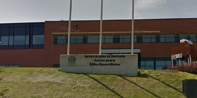 The Sherville Police Station in the Canadian province of Quebec, where police mistook the body of a burned woman for a mannequin and tossed it in a dumpster, reports say.