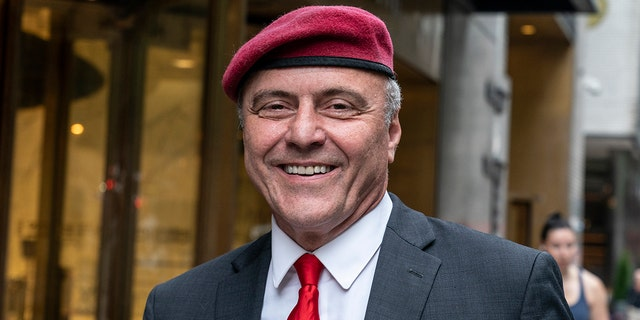 New York City mayoral candidate Curtis Sliwa is seen recently in Manhattan. (Getty Images)