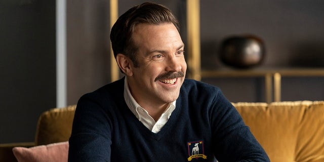 Jason Sudeikis as Ted Lasso in Apple TV+'s 'Ted Lasso.' The actor helped to create and produce the show as well as star in it. (Apple TV+)
