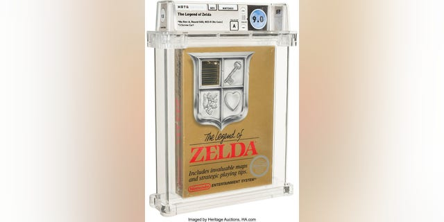 The Legend of Zelda No Rev-A Round SOQ Early Production NES Nintendo Heritage Auctions