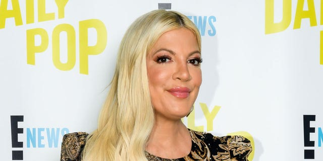 Tori Spelling attributed her new look to makeup and skincare.