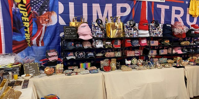 Donald Trump merchandise for sale at CPAC in Dallas, on July 11, 2021 in Dallas, Texas.