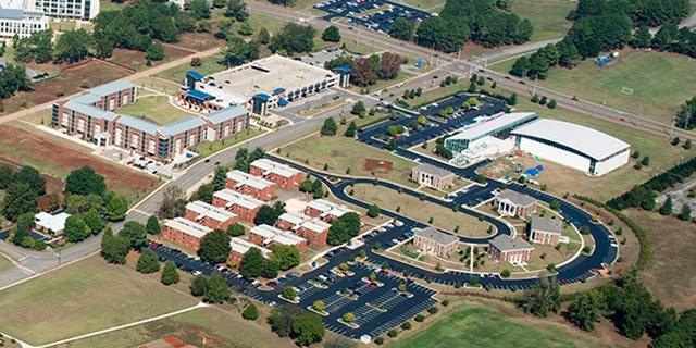 """Aerial View of the University of Alabama, Huntsville campus."""