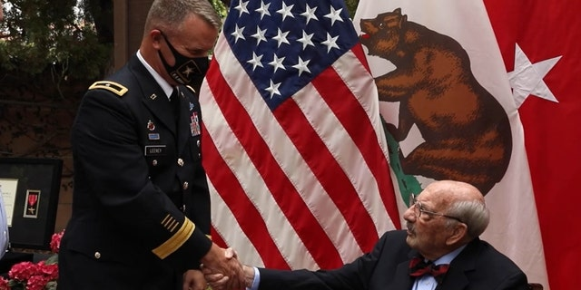 """""""Heroism knows no age: WWII veteran presented Bronze Star Medal 75 years later,"""" by SSG Kimberly Hill, identified by DVIDS,"""