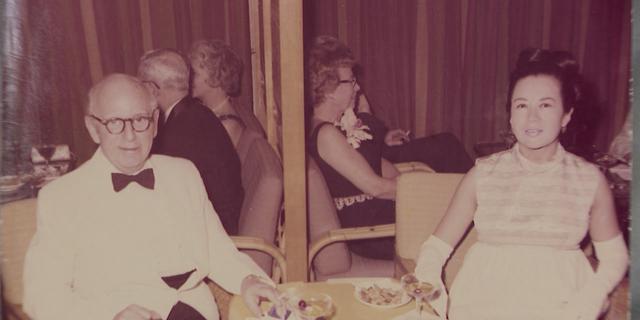 Susana Mallinson and her late husband, Frank Mallinson.