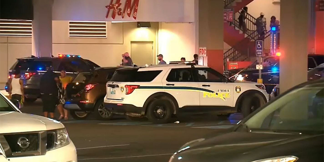 Scene of a shooting at West County Mall near St. Louis, Missouri on July 3, 2021. (KMOV via NNS)